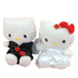 hello kittydaniel wedding plush dolls whiteblack
