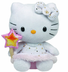 beanie hello kitty plush gold angel