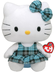 beanie buddy hello kitty aqua plaid