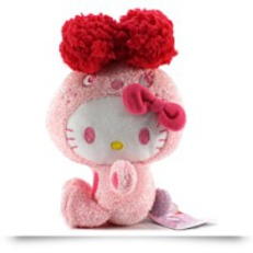 Hello Kitty Colorful Bunny Plush