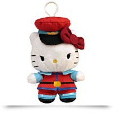 Hello Kitty M Bison Clip On Coin Plush