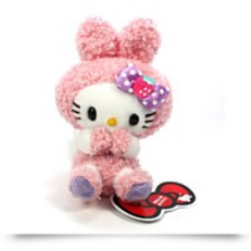 Hello Kitty Sherbet Bunny Plush Strap