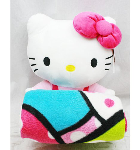 Hello Kitty Plush Doll With Fleece Blanket