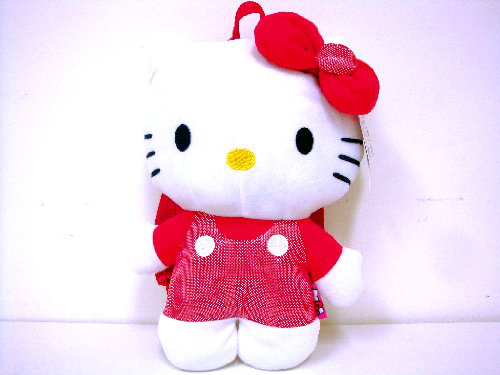 Hello Kitty Plush Backpack With Double